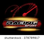 racing sport concept for logo... | Shutterstock .eps vector #378789817