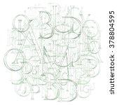 modern roman classic alphabet... | Shutterstock .eps vector #378804595