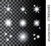 set of sparkle stars. shine... | Shutterstock .eps vector #378806485