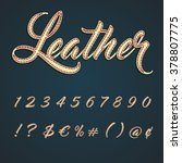 leather numbers and characters... | Shutterstock .eps vector #378807775
