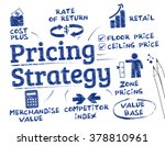 pricing strategy. chart with... | Shutterstock .eps vector #378810961