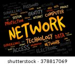 network word cloud  business... | Shutterstock . vector #378817069