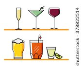 cocktails and drinks set | Shutterstock .eps vector #378822514