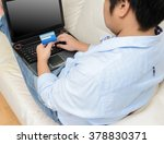 close up of man with laptop... | Shutterstock . vector #378830371