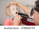 doctor ent checking ear with...   Shutterstock . vector #378830755
