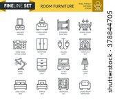 modern minimal flat thin line... | Shutterstock .eps vector #378844705
