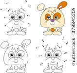 funny and cute puppy. coloring... | Shutterstock .eps vector #378845209