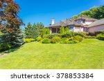 custom built luxury house with...   Shutterstock . vector #378853384