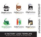 factory logo template design... | Shutterstock .eps vector #378858649