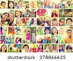 children family enjoyment... | Shutterstock . vector #378866635