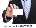businessman holding blank... | Shutterstock . vector #378874207