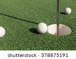 Focus On A Dirty Golf Ball...