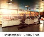 wheelhouse control board of... | Shutterstock . vector #378877705