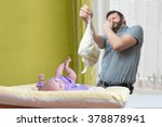 baby care concept. father od... | Shutterstock . vector #378878941