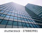 abstract facade of a modern... | Shutterstock . vector #378883981