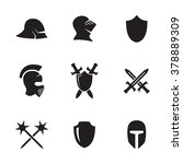 set of isolated icons on a...