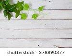 flowers on wooden background | Shutterstock . vector #378890377