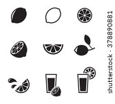set of isolated black icons on...   Shutterstock .eps vector #378890881