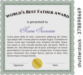 world's best father award.... | Shutterstock .eps vector #378898669