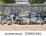 storage of metal waste... | Shutterstock . vector #378901981