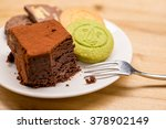 cookie and brownies on wood... | Shutterstock . vector #378902149