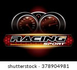 racing sport concept for logo... | Shutterstock .eps vector #378904981