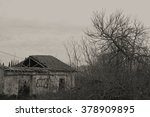 Abandoned House Ruin With...