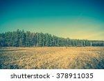 vintage landscape of rural... | Shutterstock . vector #378911035