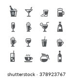 drinks icons    utility series | Shutterstock .eps vector #378923767
