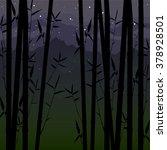 landscape  asia. evening... | Shutterstock .eps vector #378928501