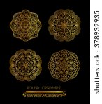 mandala golden art. gold... | Shutterstock . vector #378932935
