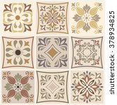 collection of 9 ceramic tiles... | Shutterstock .eps vector #378934825