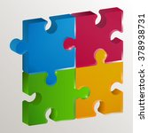 puzzle made of four beautiful... | Shutterstock .eps vector #378938731