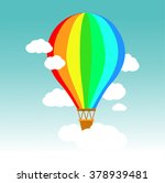 colorful hot air balloon | Shutterstock .eps vector #378939481