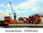 container terminal | Shutterstock . vector #37894162