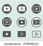 white gray play vector logo ...