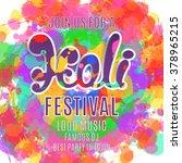 holi festival poster. template...   Shutterstock .eps vector #378965215