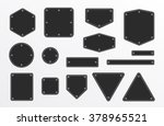 banners frames with metal screw ... | Shutterstock .eps vector #378965521