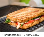grilled sandwich   panini on... | Shutterstock . vector #378978367