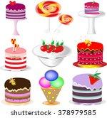 appetizing sweet set | Shutterstock .eps vector #378979585