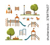kids playground  city park set. ... | Shutterstock .eps vector #378979657