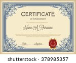 certificate of achievement... | Shutterstock .eps vector #378985357