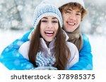 winter couple | Shutterstock . vector #378985375