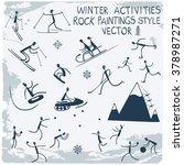 winter activities. stick... | Shutterstock .eps vector #378987271