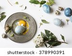 Blue Easter Egg Broken Over...