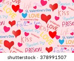 february 14 valentine's day.... | Shutterstock . vector #378991507