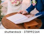 signature wedding | Shutterstock . vector #378992164