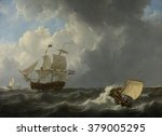 Ships In A Turbulent Sea  By...