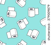 seamless doodle pattern. toilet ...