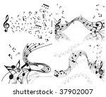 vector musical notes staff... | Shutterstock .eps vector #37902007